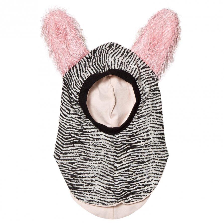 Bang Bang Copenhagen Black/White Fluffy Ear Curious Balaclava Kypäräpipo