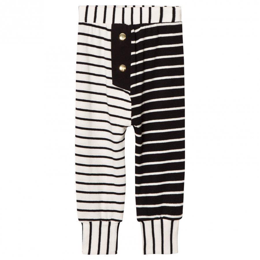 Bang Bang Copenhagen Black/White Kim Stripe Knit Trousers Housut