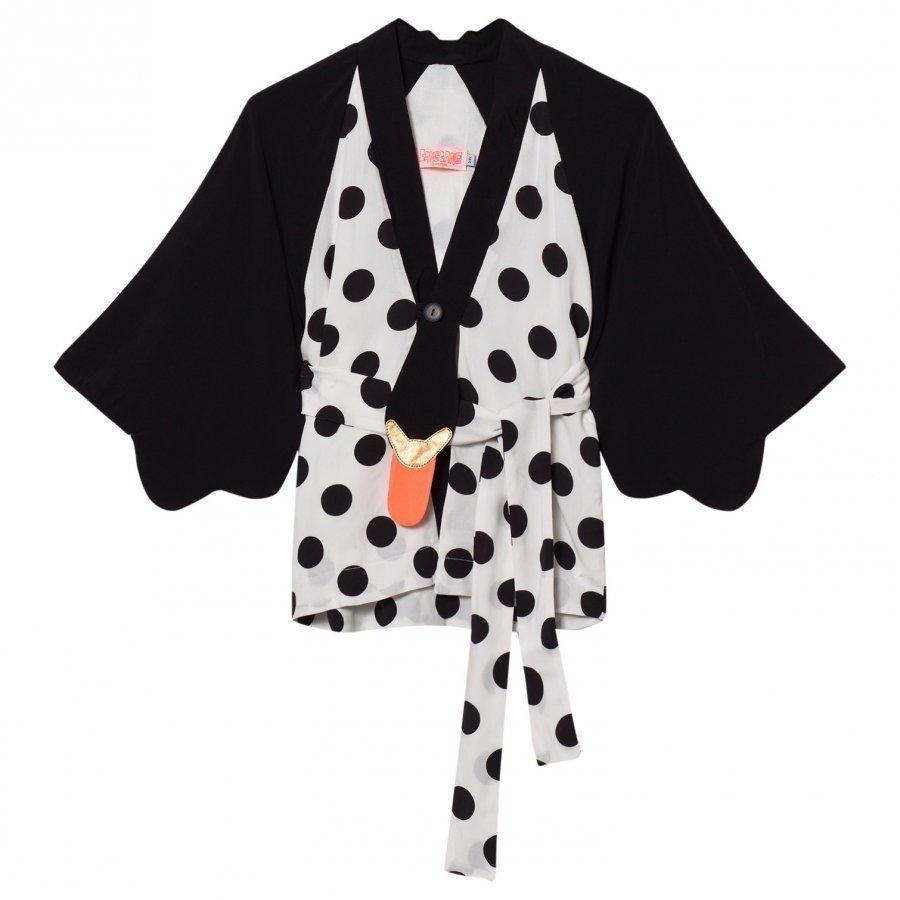 Bang Bang Copenhagen Black/White Kimmo Kimono Neuletakki