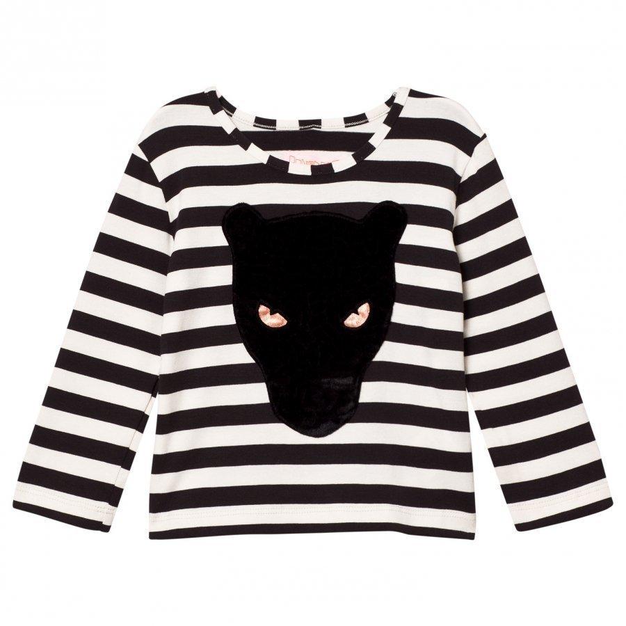 Bang Bang Copenhagen Black/White Stripe Panther Stripe Tee Pitkähihainen T-Paita