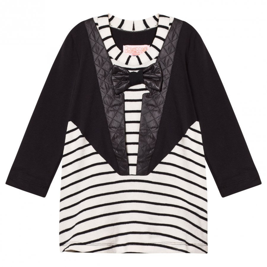 Bang Bang Copenhagen Black/White Tuxedo Nelly Stripe Dress Mekko