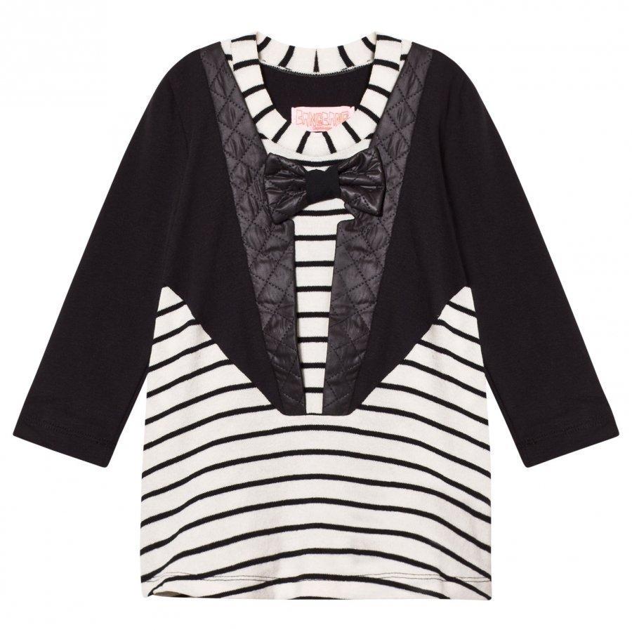Bang Bang Copenhagen Black/White Tuxedo Nelly Stripe Dress Mekko
