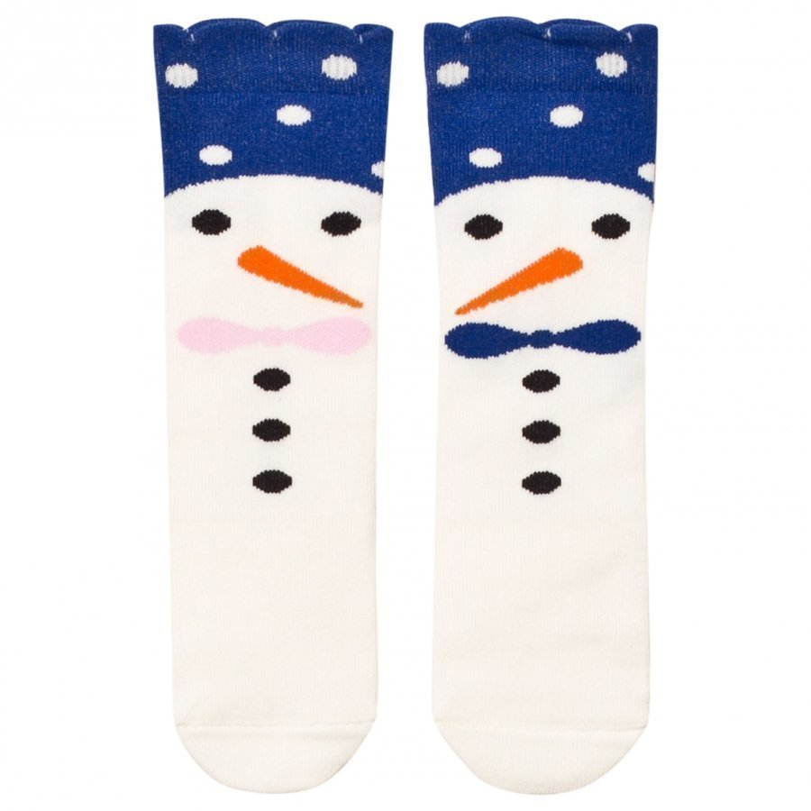 Bang Bang Copenhagen Blue Snow Family Knee Socks Sukat