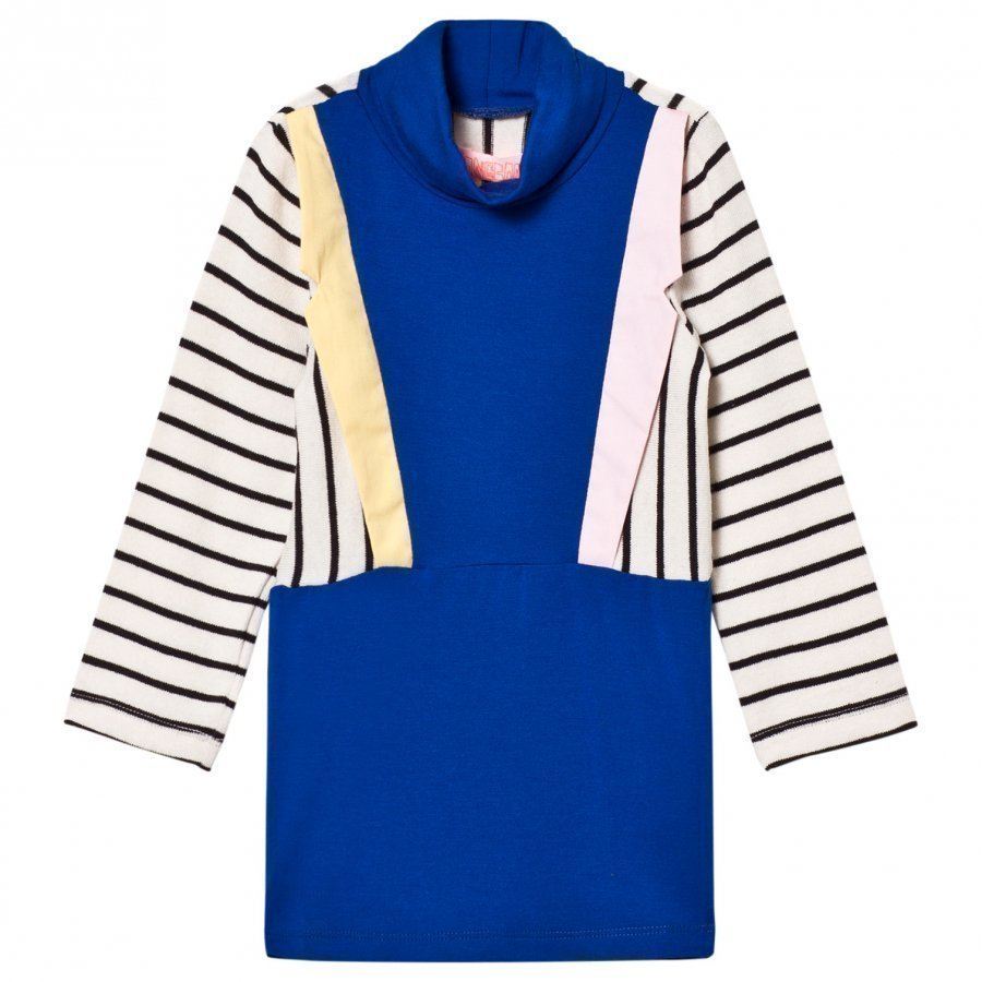 Bang Bang Copenhagen Blue Stripe Collared Paris Knit Dress Mekko