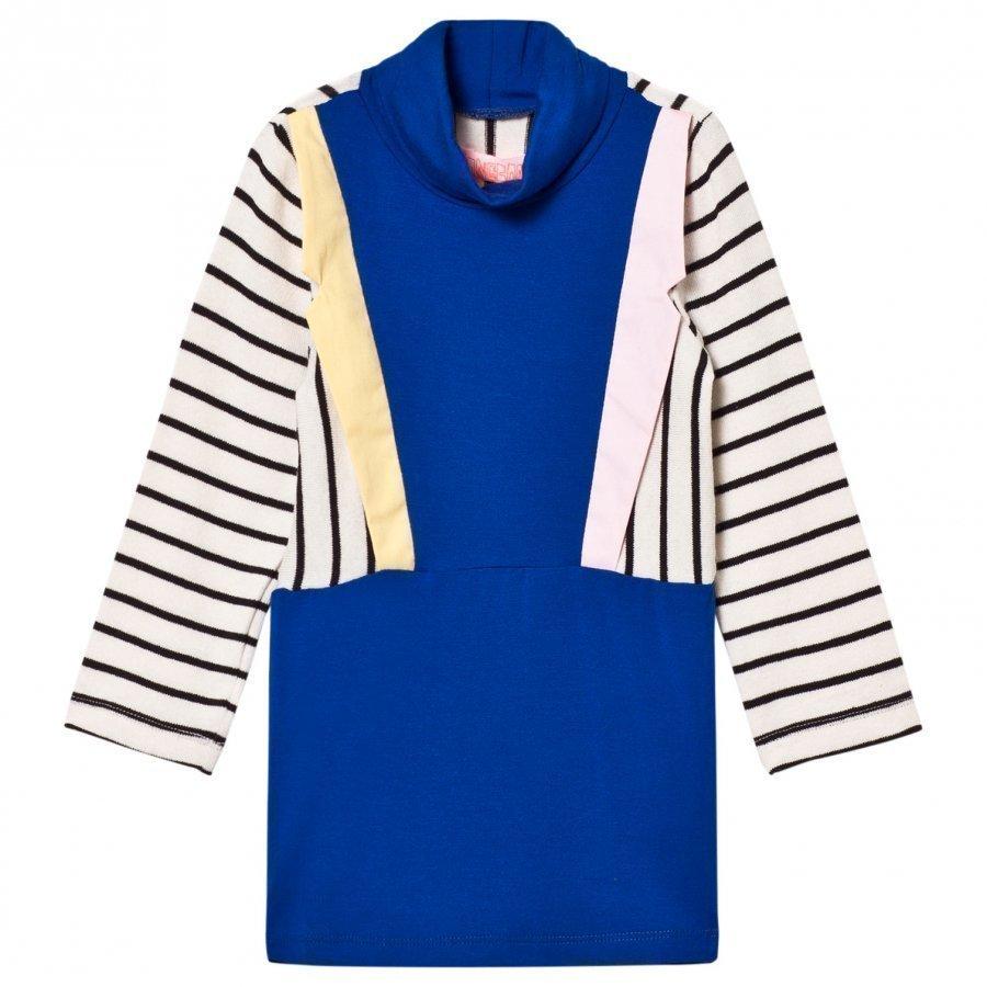 Bang Bang Copenhagen Blue Stripe Collared Paris Knit Dress Mekko