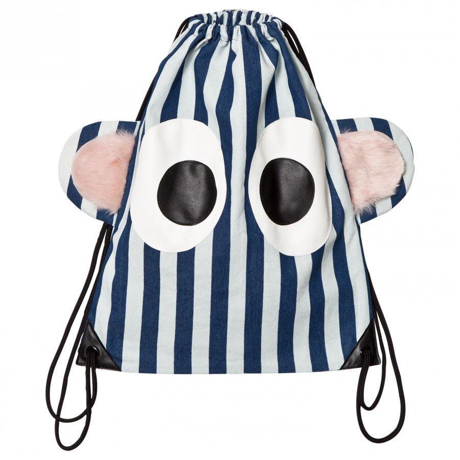Bang Bang Copenhagen Blue/White Stripe Funny Guy Gym Bag Reppu