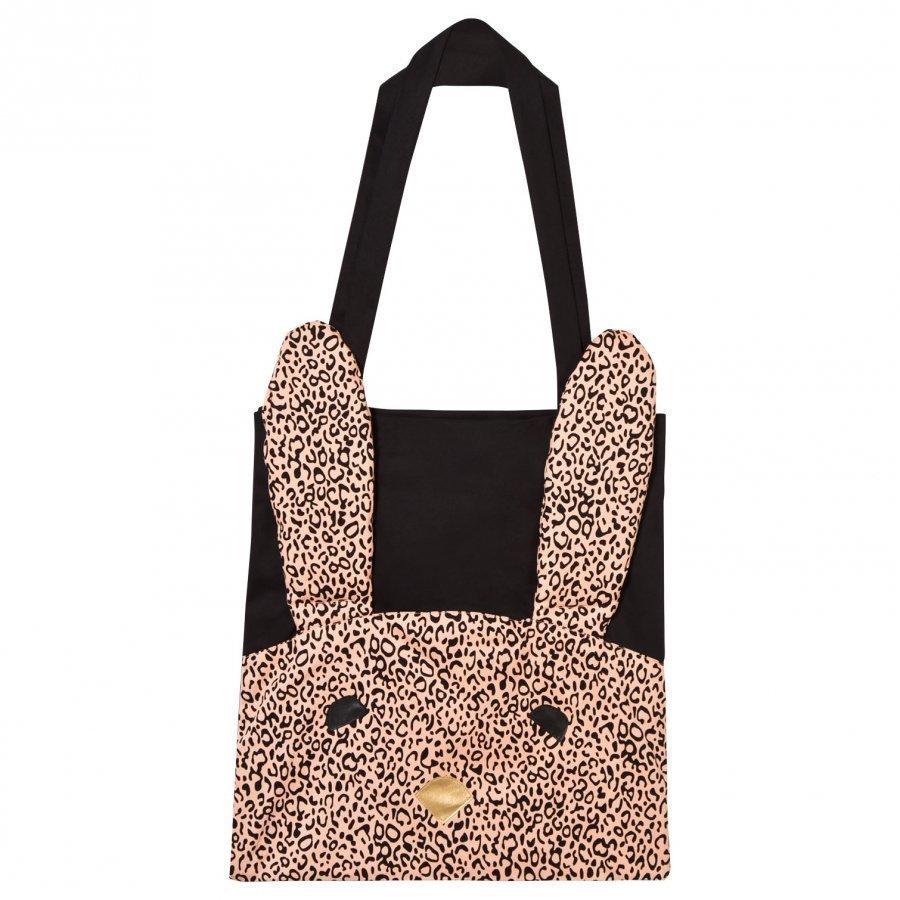 Bang Bang Copenhagen Cotton Tote Bag With Rabbit Applique Black Kassi