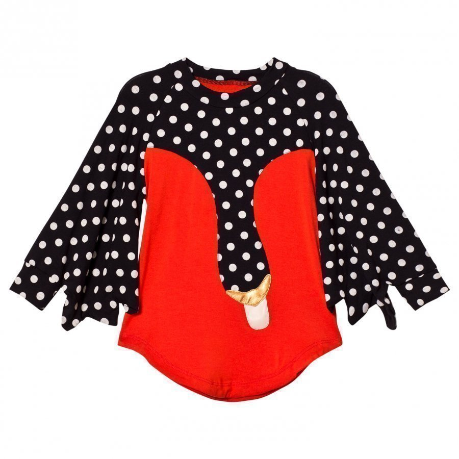Bang Bang Copenhagen Exclusive Red Drama Queen Spot Swan Dress Juhlamekko