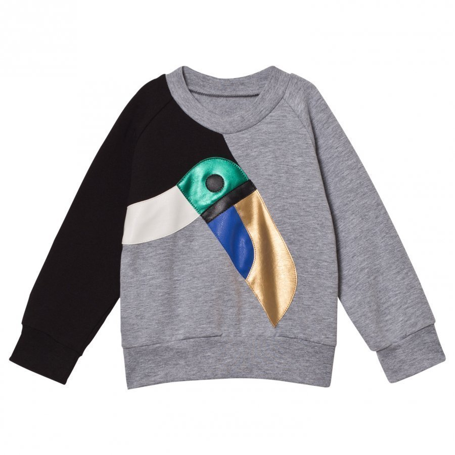 Bang Bang Copenhagen Grey Toucan Applique Sweatshirt Oloasun Paita