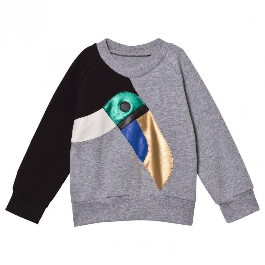 Bang Bang Copenhagen Grey Toucan Applique Sweatshirt Oloasun Paita