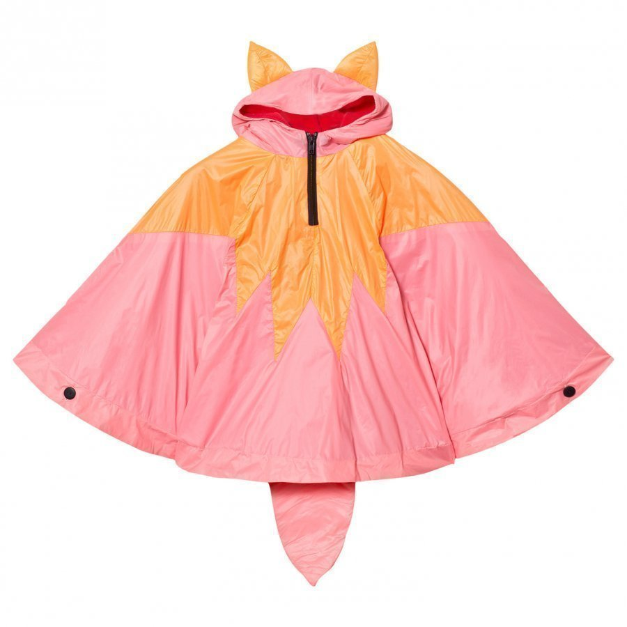 Bang Bang Copenhagen Orange/Pink Fox Poncho Sadetakki
