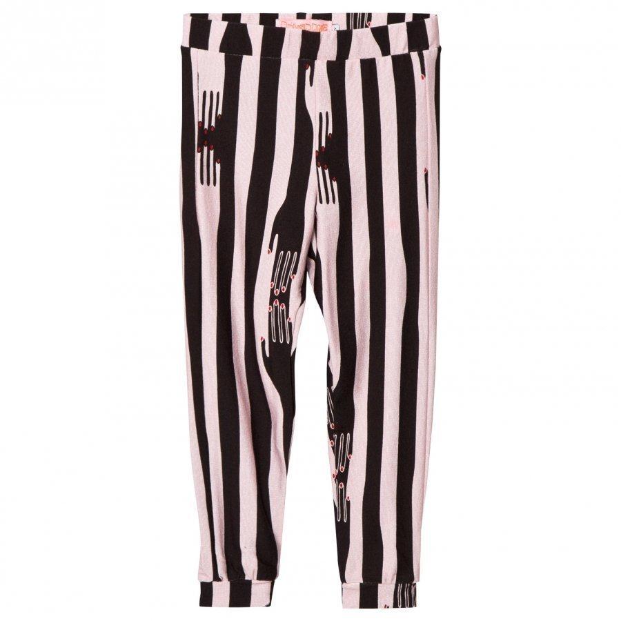 Bang Bang Copenhagen Pink/Black Hands Print Handmade Leggings Legginsit