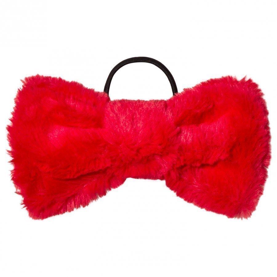 Bang Bang Copenhagen Red Furry Hair Bow Hiusnauha