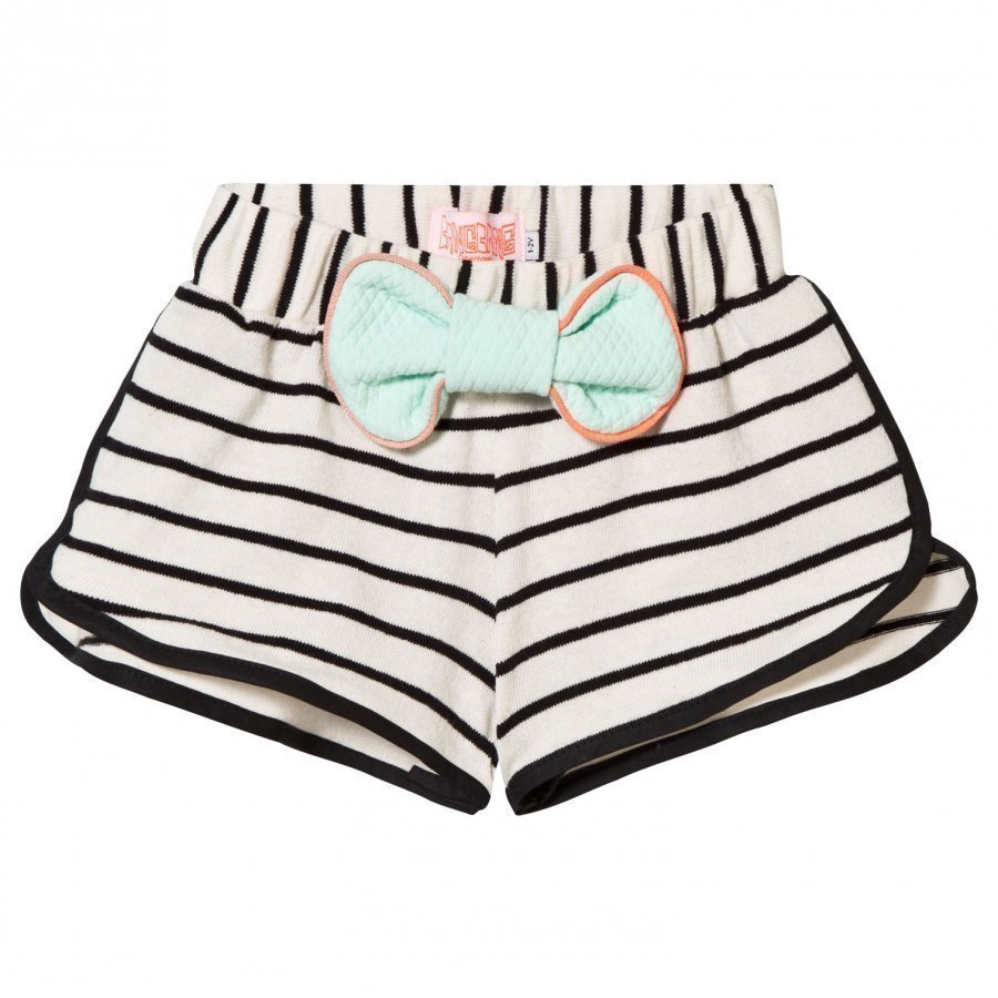 Bang Bang Copenhagen Sonja Shorts White And Black Stripe Juhlashortsit
