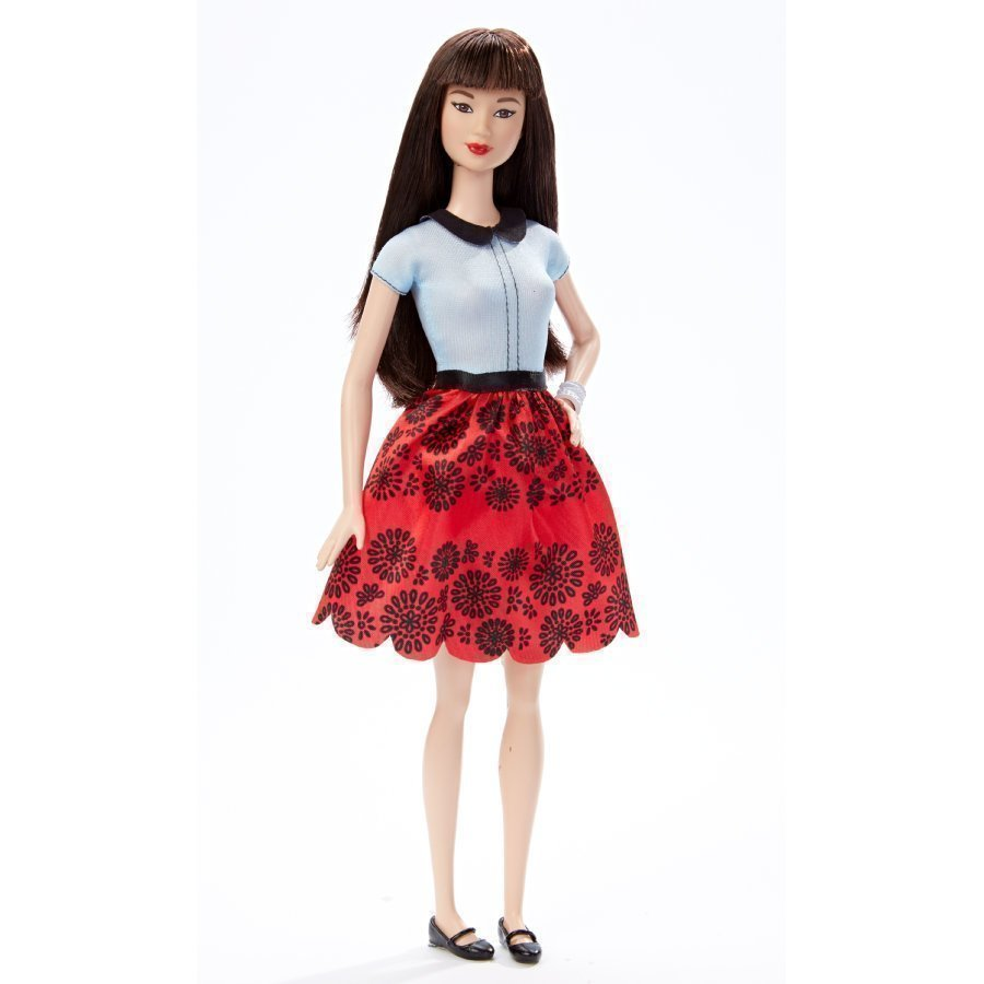 Barbie Fashionistas Nukke Ruby Red Floral