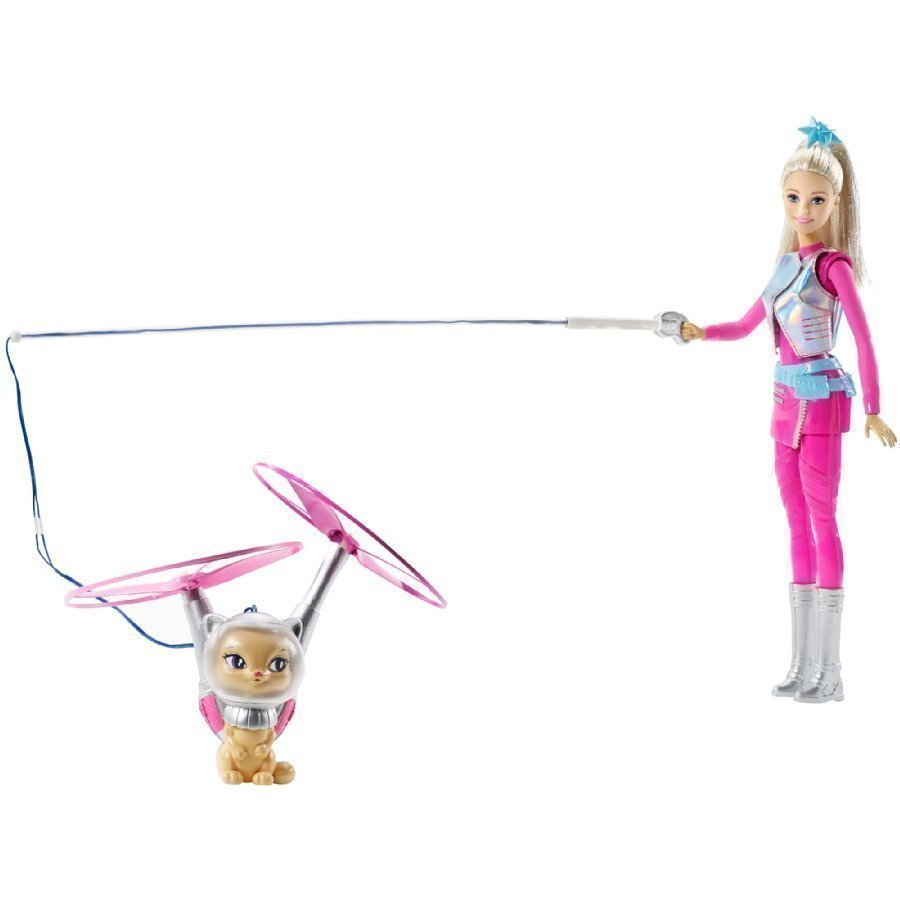 Barbie Starlight Adventure Galaxy Barbie Doll & Hover Cat