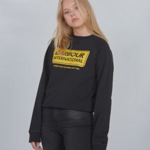 Barbour Logo Sweat Neule Musta