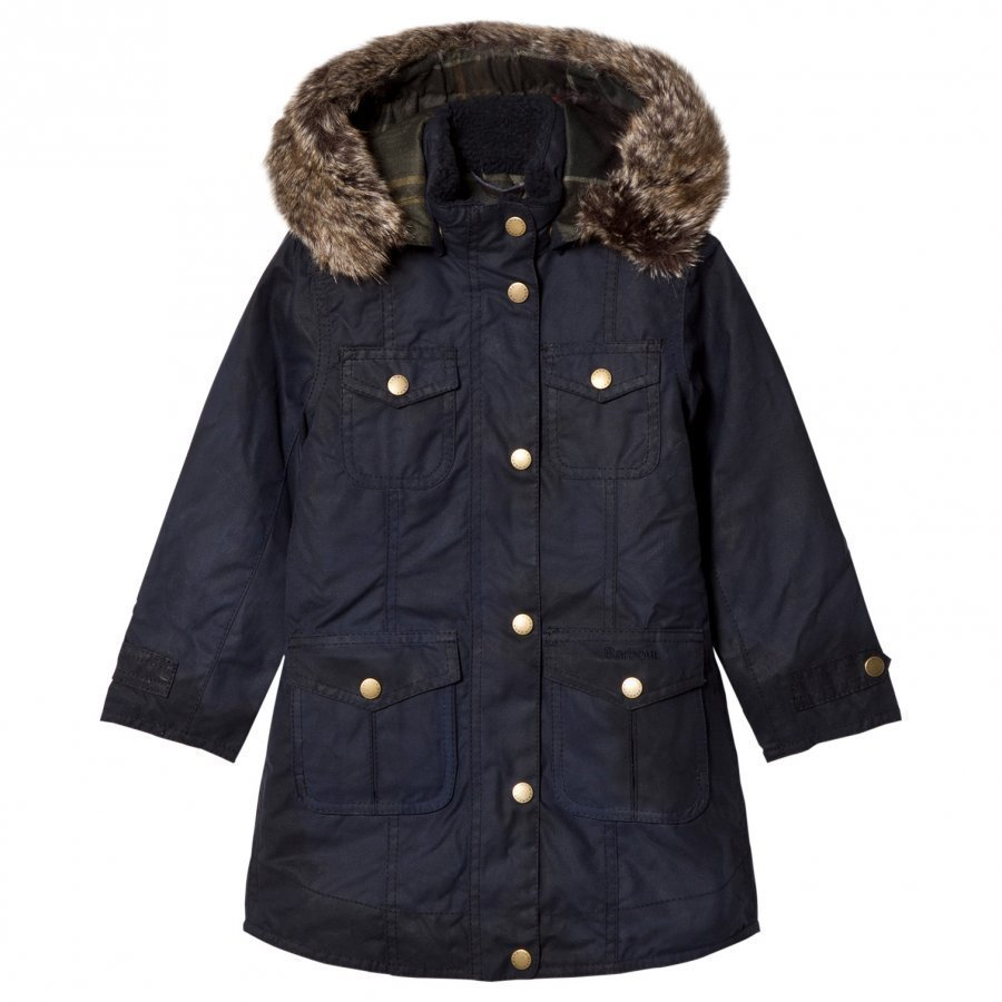 Barbour Navy Ashbridge Wax Parka Parkatakki