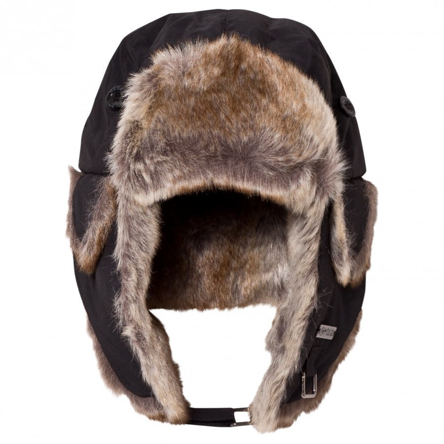 Barts Black Faux Fur Kamikaze Trapper Hat Korvalapullinen Päähine