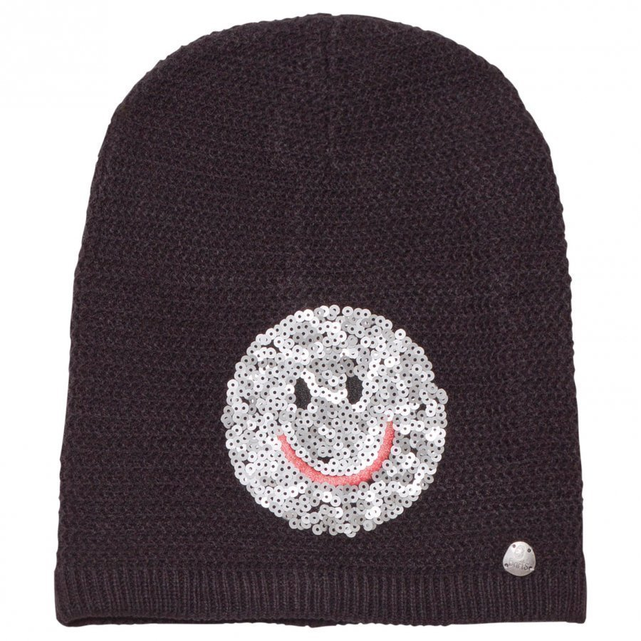 Barts Black Smiley Face Fable Beanie Pipo