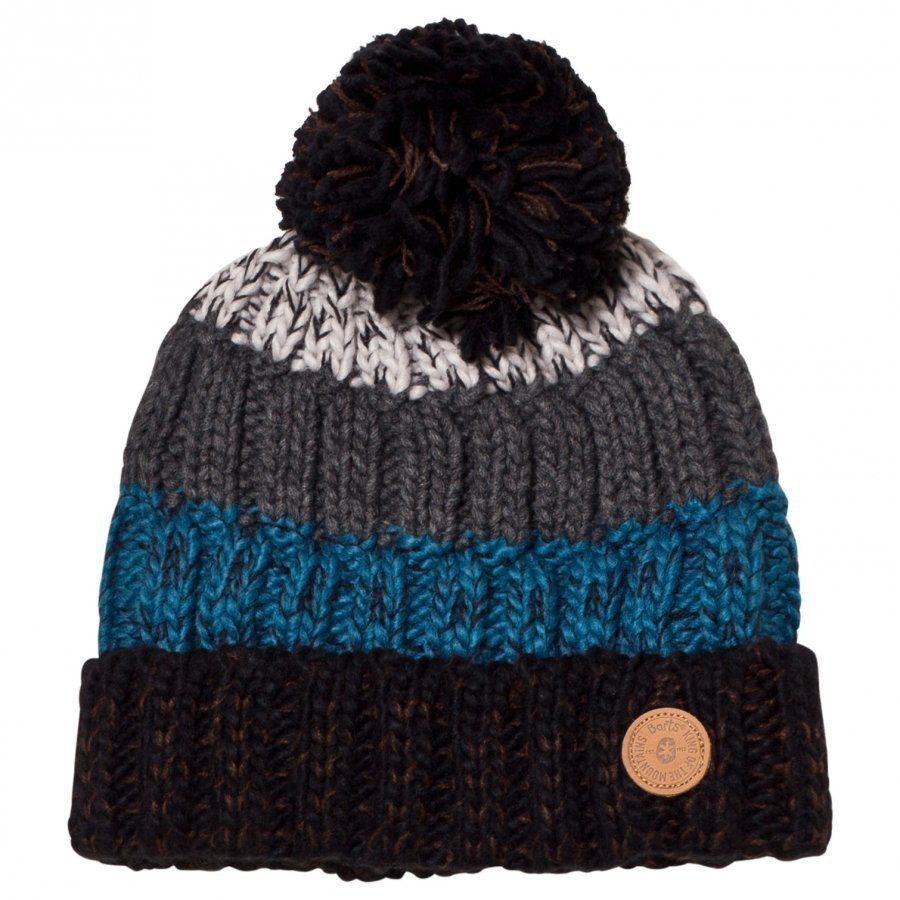 Barts Black/Blue Stripes Wilhelm Beanie Pipo