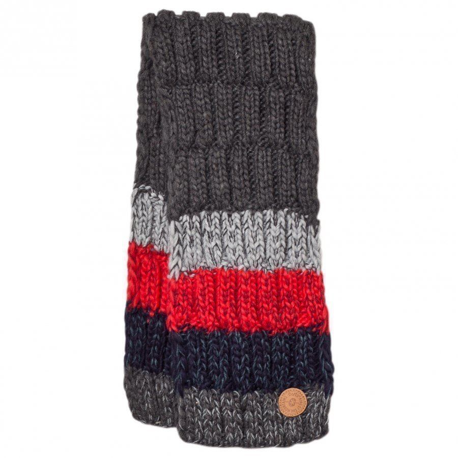 Barts Dark Grey And Red Stripes Wilhelm Scarf Villahuivi