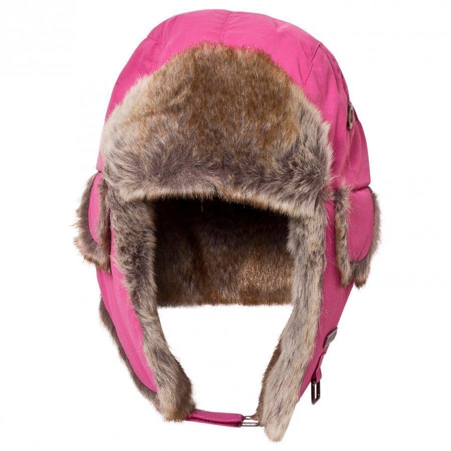 Barts Fuchsia Faux Fur Kamikaze Trapper Hat Korvalapullinen Päähine