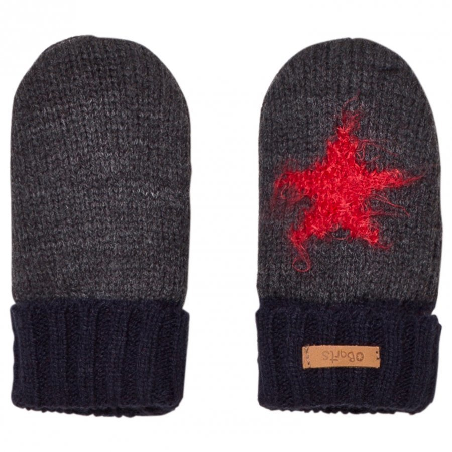 Barts Grey And Black Star Milkyway Mittens Fleece Lapaset