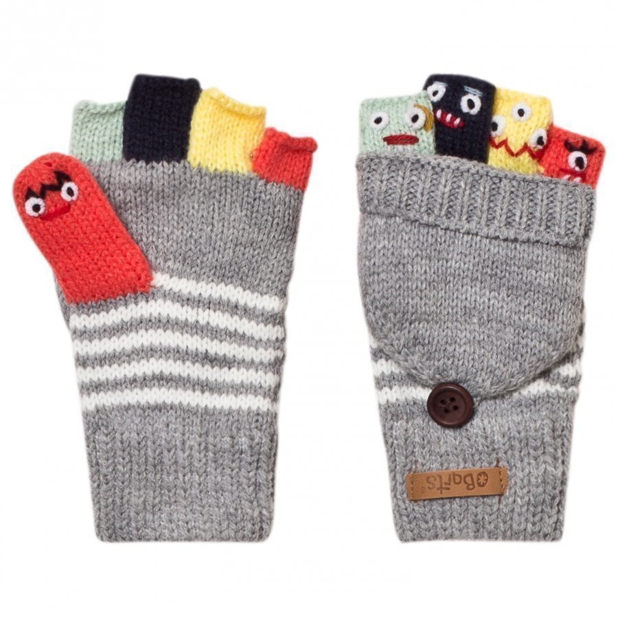 Barts Grey Puppet Bum Gloves Kynsikkäät