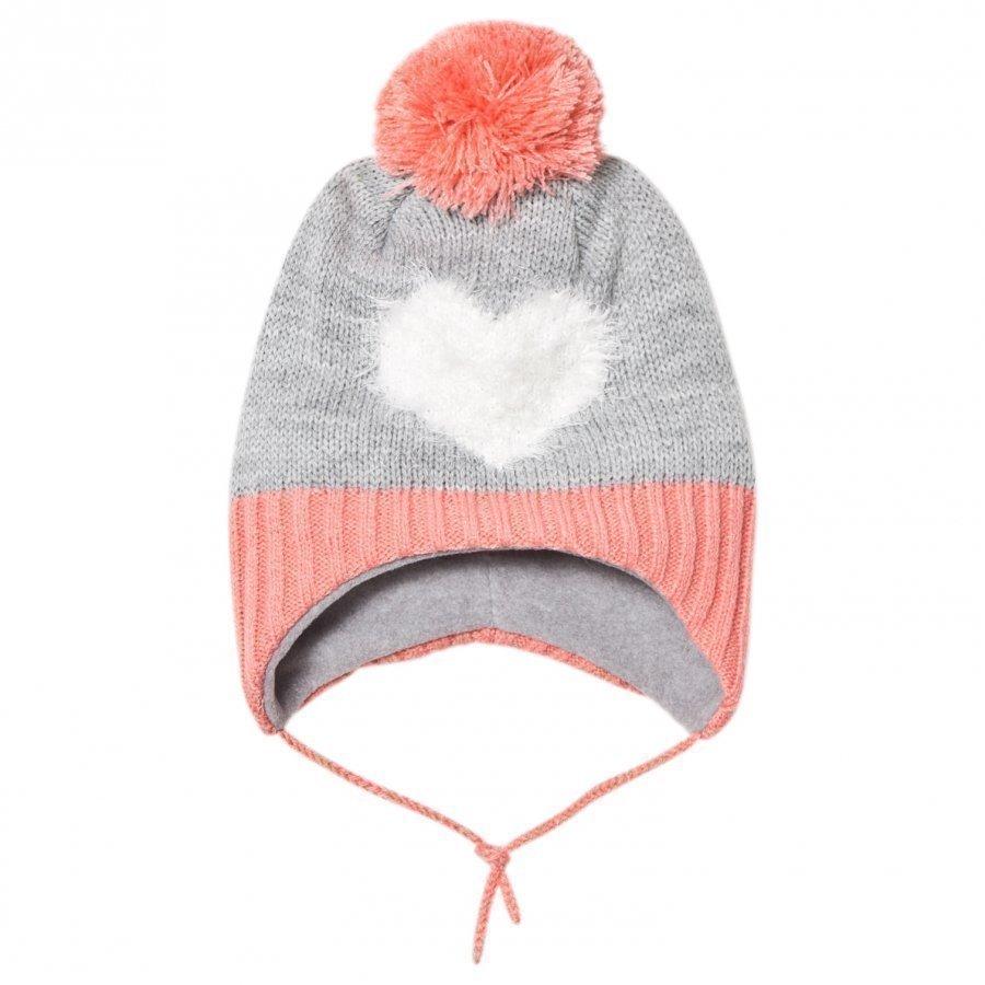 Barts Heart Milkyway Inka Beanie Grey/Pink Pipo