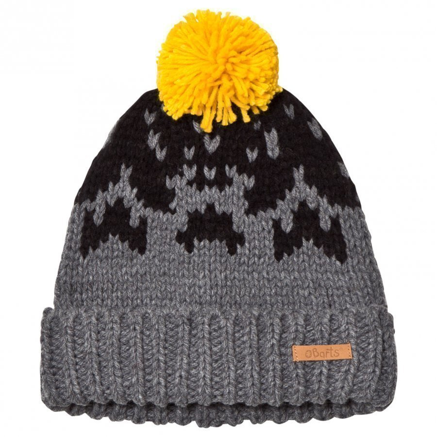 Barts Pom Pom Baigh Beanie Dark Grey/Yellow Pipo