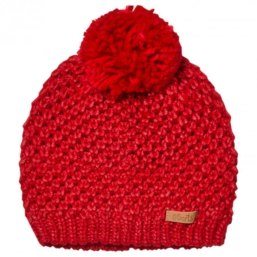 Barts Red Knitted Cers Beanie Pipo