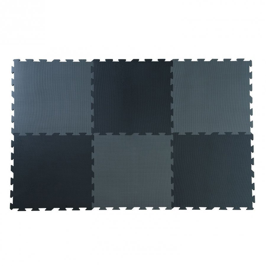 Basson Baby Black/Grey Play Mat 6 Pcs Leikkimatto