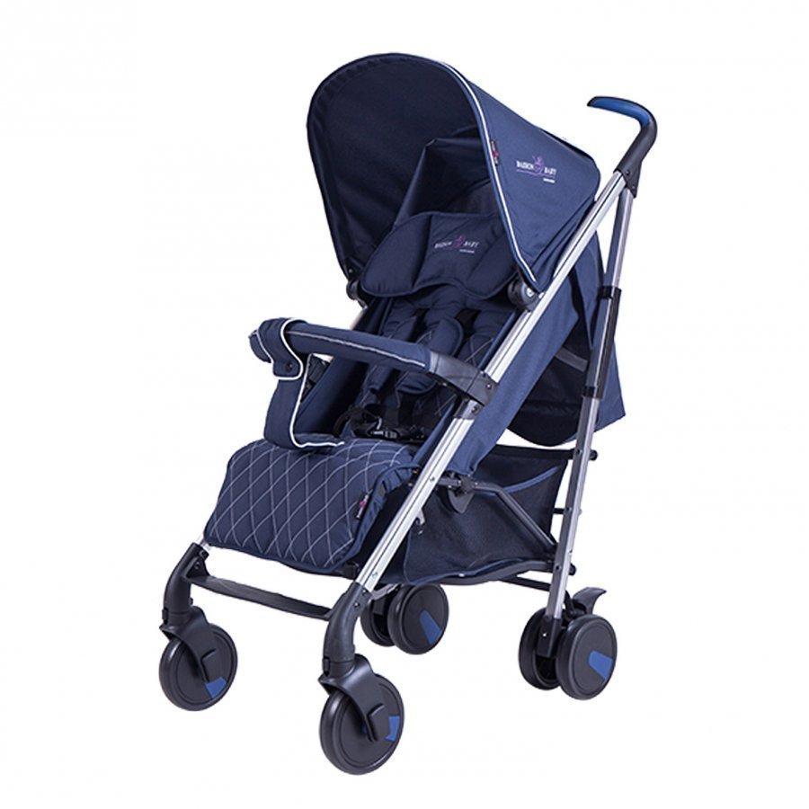 Basson Baby Pico Quilted Stroller Blue Sateenvarjorattaat