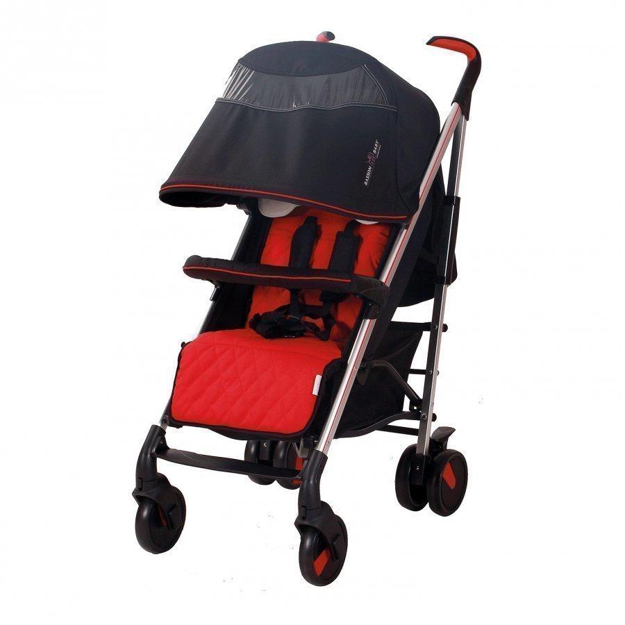 Basson Baby Pico Quilted Stroller Red Sateenvarjorattaat