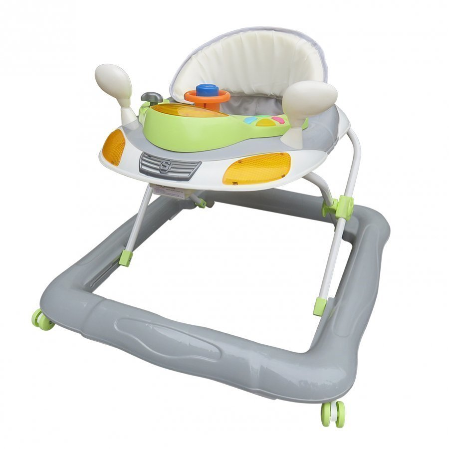 Basson Baby Walker Grey/Green Kävelytuki