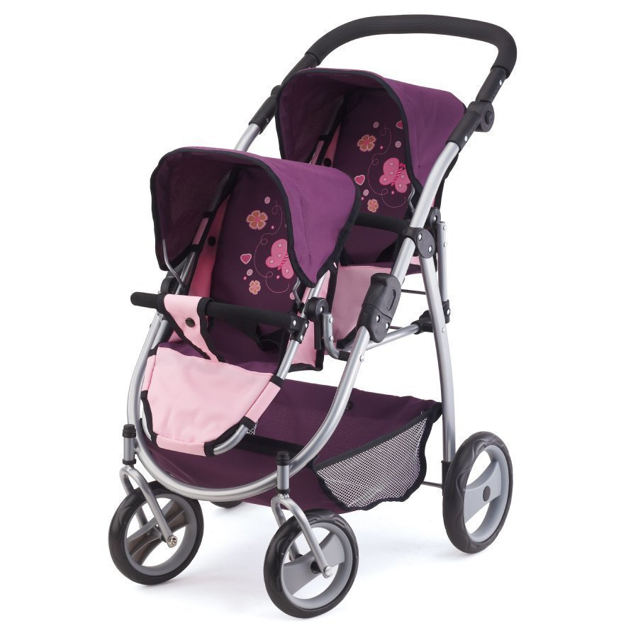Bayer Design Kaksosrattaat Nukelle Vaaleanpunainen / Violetti 2655700