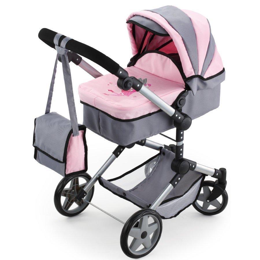 Bayer Design Yhdistelmänukenvaunut Neo Pro Harmaa / Vaaleanpunainen