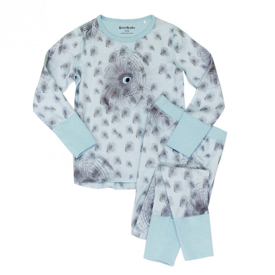 Beau & Rooster Night Owl Pyjamas Canal Blue Yöpuku