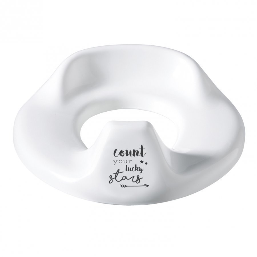Bebe-Jou Toilet Trainer Adjustable Lucky Quotes White Potta