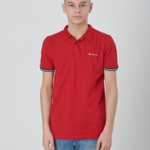 Ben Sherman Collar Print Polo Pikee Punainen