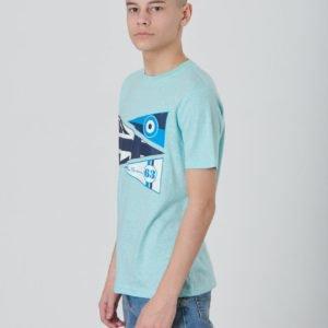 Ben Sherman Textured Pennants Tee T-Paita Sininen