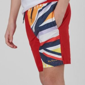 Ben Sherman Union Jack Sliced Swim Uimashortsit Punainen