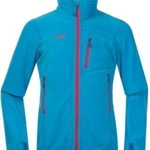 Bergans Fleecetakki Runde Youth Girl Sea Blue/Hot Pink