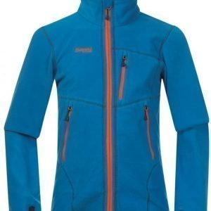 Bergans Fleecetakki Runde Youth Sea Blue/Navy/Orange
