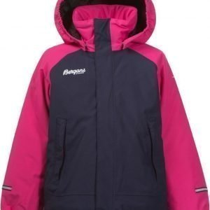 Bergans Takki Storm Insulated Kids Hot Pink/Navy