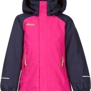 Bergans Takki Storm Insulated Kids Navy/Pink/Lime