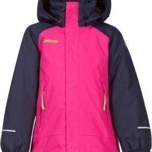 Bergans Takki Storm Insulated Kids Navy/Pink/Lime