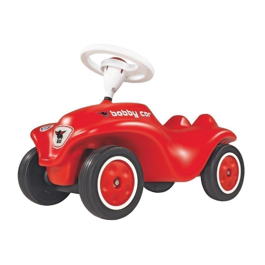 Big Potkuauto New Bobby Car Hiljaisilla Renkailla Punainen