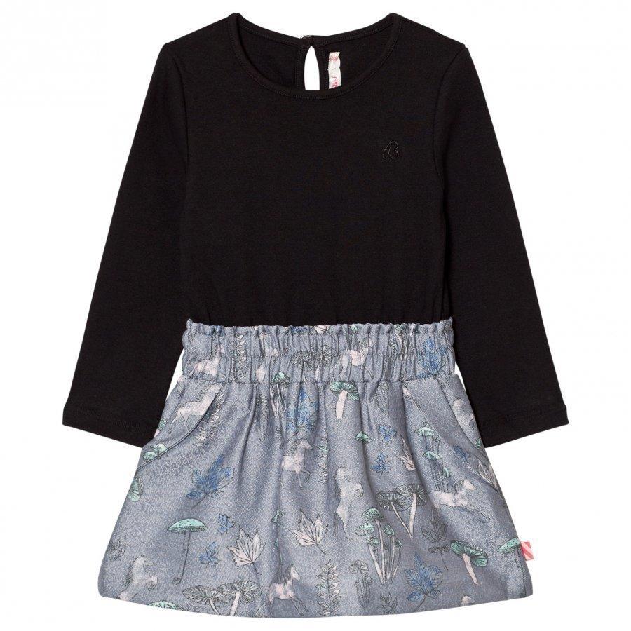 Billieblush Black Top Multi Pattern Skirt Dress Mekko